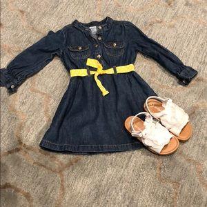 Little Girls Denim Dress